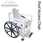 Aqua Creek Solid Seat Pool Access Chair Wide