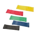 CanDo 10 inch Exercise Band Loops Set of 5