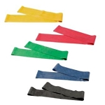 CanDo 30 inch Exercise Band Loops Set of 5