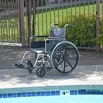 Aqua Creek 20 inch Stainless Steel Pool Wheelchair