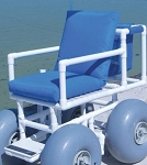 Aqua Creek Beach Access Chair with 4 Large Wheels