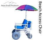 Aqua Creek Beach Access Chair with Rear Articulated Wheels