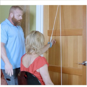 Pull-Easy Grip-Free Shoulder Pulley with Door Strap