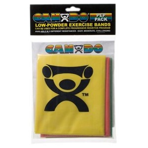 CanDo Low Powder Exercise Band Packs